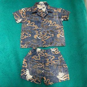 Used, Kids/boys Hawaiian Shirt&Short